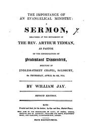 The importance of an evangelical ministry, a sermon: Volume 7