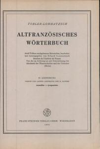 Altfranz  sisches W  rterbuch PDF