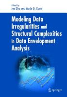 Modeling Data Irregularities and Structural Complexities in Data Envelopment Analysis PDF