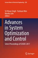 Advances in System Optimization and Control PDF