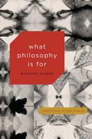 What Philosophy Is For PDF