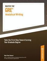 Master the GRE Analytical Writing PDF