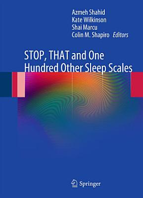 STOP  THAT and One Hundred Other Sleep Scales