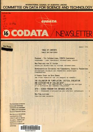 CODATA Newsletter PDF