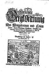 Vornewete Bergk Ordenung (etc.)