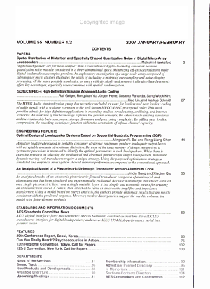 Journal of the Audio Engineering Society PDF
