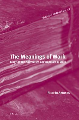 The Meanings of Work PDF