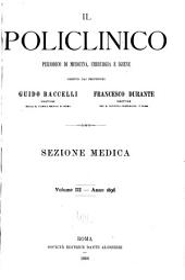 Il Policlinico: Sezione medica, Volume 3