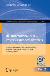 HCI International 2014 - Posters' Extended Abstracts: International Conference, HCI International 2014, Heraklion, Crete, June 22-27, 2014. Proceedings, Part 2
