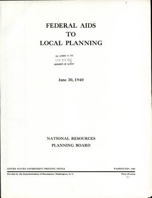 Federal Aids to Local Planning PDF