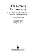 The Literary Filmography  M Z  bibliography  index PDF