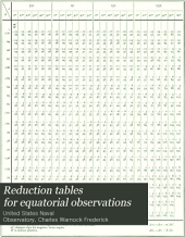 Reduction tables for equatorial observations