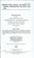 Treasury  Postal Service  and General Government Appropriations for Fiscal Year 1995 PDF