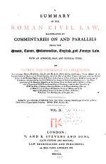 A Summary of the Roman Civil Law