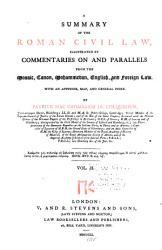 A Summary Of The Roman Civil Law Book PDF