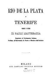 Río de la Plata e Tenerife: viaggi e studj