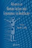 Advances in Human Factors and Ergonomics in Healthcare PDF