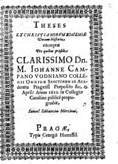 Theses ex christianorum Bohemiae ducum historia excerptae