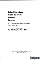 School Librarian s Grade by grade Activities Program PDF