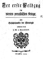 Der erste Feldzug im vierten preußischen Kriege: Im Gesichtspunkte der Strategie. 1