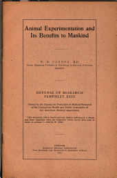 Animal Experimentation and Its Benefits to Mankind