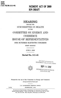 Food Safety Enhancement Act of 2009 Discussion Draft PDF