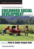The Wiley Blackwell Handbook of Childhood Social Development PDF