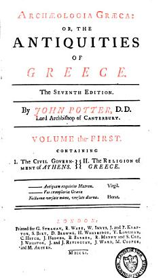 Archaeologia Graeca  Or the Antiquities of Greece PDF