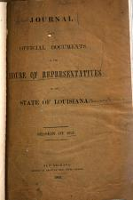 Official Journal of the Proceedings of House of Representatives of the State of Louisiana at the ... General Assembly ...