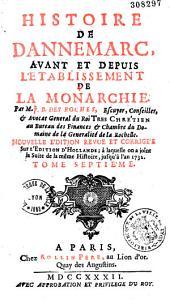 Histoire de Dannemarc, avant et depuis l'établissement de la monarchie