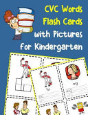 CVC Words Flash Cards with Pictures for Kindergarten