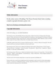 The Chosen By Chaim Potok Summary Study Guide PDF