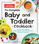 The Complete Baby and Toddler Cookbook Book