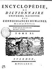 Encyclopédie, ou dictionnaire universel raisonné des connoissances humaines. Tome XI. Cong---Cot