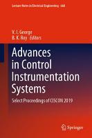 Advances in Control Instrumentation Systems PDF
