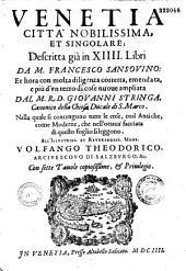 Venetia, città nobilissima et singolare descritta in XIIII libri da M. Francesco Sansovino...
