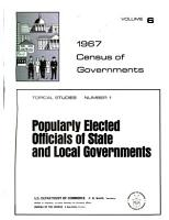 1967 Census of Governments  Topical studies  7 no  in 2 v PDF