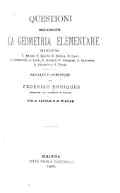Questioni riguardanti la geometria elementare