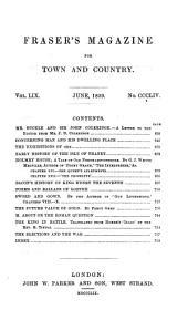 Fraser's Magazine: Volume 59
