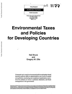 Environmental Taxes and Policies for Developing Countries PDF