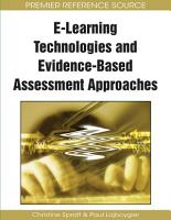 E Learning Technologies and Evidence Based Assessment Approaches PDF