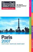 Time Out Shortlist 2007 Paris PDF