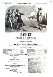Hamlet prince de Danemark drame en vers en cinq actes et huit parties par Alex. Dumas et Paul Meurice