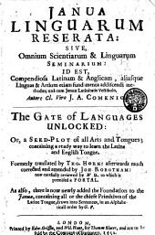 Gate of Languages Unlocked: Or, a Seed-Plot of all Arts and Tongues