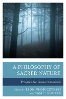 A Philosophy of Sacred Nature PDF