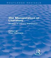 The Manipulation of Literature  Routledge Revivals  PDF