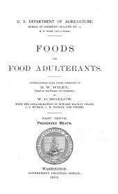 Foods and food adulterants: Issue 10; Issue 13