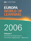 The Europa World of Learning 2006