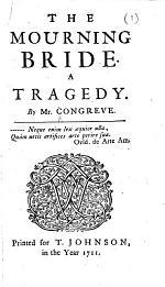 The Mourning Bride, Etc