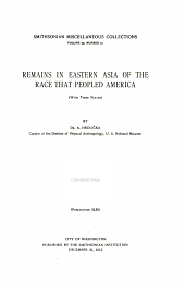 Remains in eastern Asia of the race that peopled America: (with three plates)